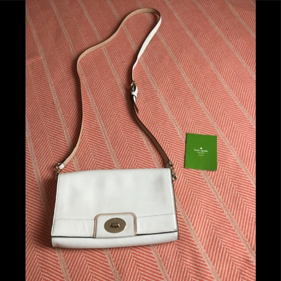kate spade Handbags - Kate Spade white leather crossbody